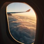 view from airplane seat